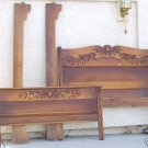 ANTIQUE PENNSYLVANIA DUTCH DBL.SLEIGH BED BEDROOM SET