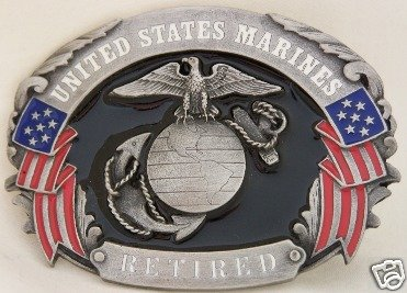 UNITED STATES MARINES RETIRED SISKIYOU MILITARY BUCKLE