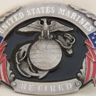 UNITED STATES MARINES RETIRED SISKIYOU MILITARY BUCKLE