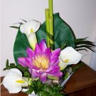 ELEGANT PURPLE WATER LILY FLORAL ARRANGMENT