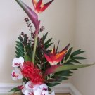 RED BIRDS OF PARADISE FLORAL ARRANGEMENT