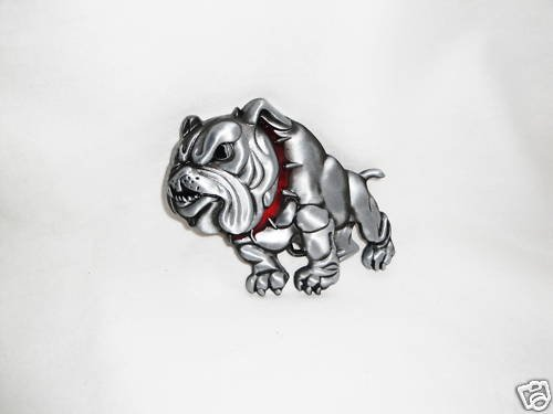 SNARLING  ATTACK VICIOUS BULLDOG BELT BUCKLE
