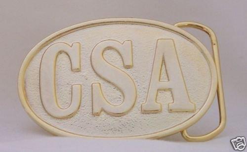 CSA CONFEDERATE STATES GOLDTONE BELT BUCKLE