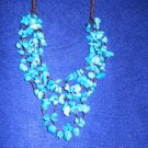 TURQUOISE (5 STRAND) FASHION NECKLACE...30% DISCOUNT