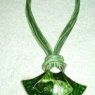 DRAMATIC  PENDANT NECKLACE IN SHADES OF GREEN