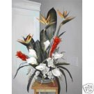 "BIRDS OF PARADISE, ""SUNRISE CRESCENT FLORAL ARRANGEMENT"