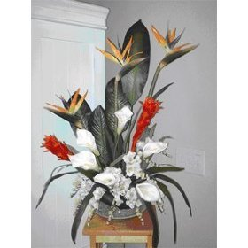GORGEOUS TROPICAL HANDMADE FLORAL ARRANGEMENT