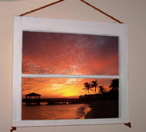 YOUR WINDOW ON A TROPICAL PARADISE...WALL DECOR