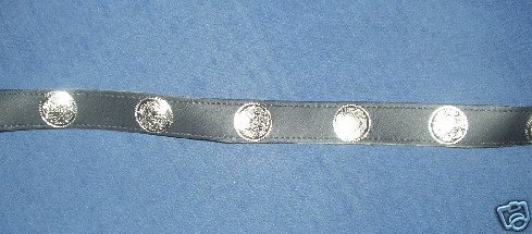 Leather Hatband with Faux Silver Pieces