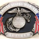 US MARINES RETIRED SISKIYOU MILITARYPEWTER BELT BUCKLE