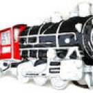 TRAIN ENGINE PEWTER BELT  BUCKLE BY GREAT AMERICAN .