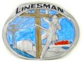 LINESMAN OCCUPATION BELT BUCKLE