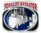 FORKLIFT OPERATOR OCCUPATION BELT BUCKLE