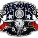 TEXAS THE STATE OF TEXAS WITH LONGHORN BELT BUCKLE