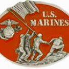 U.S. MARINES IWO JIMA MILITARY COLLECTIBLE BELT BUCKLE