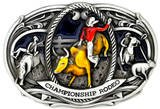 CHAMPIONSHIP RODEO PEWTER BELT BUCKLE...MADE IN USA