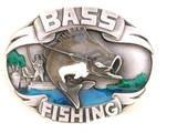 BASS FISHING FISHERMAN'S BELT BUCKLE BY SISKIYOU