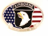 101ST AIRBORNE MILITARY BELT BUCKLE...MADE IN USA
