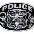 POLICE LAW ENFORCEMENT BELT BUCKLE