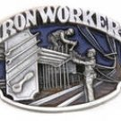 IRON WORKER PEWTER BUCKLE BY SISKIYOU MADE IN USA