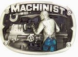 MACHINIST PEWTER MEN'S OCCUPATIONS BELT BUCKLE