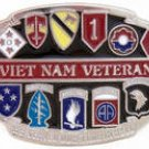 VIETNAM VETERAN MILITARY BELT BUCKLE