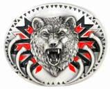 Men's GROWLING BEAR PEWTER Belt Buckle..$15.99