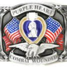 PURPLE HEART  PEWTER MILITARY BELT BUCKLE...$15.99...