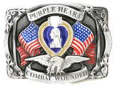 PURPLE HEART  PEWTER MILITARY BELT BUCKLE...$15.99...