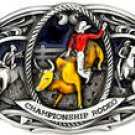 CHAMPIONSHIP SIZE RODEO CHAMPIONSHIP BELT  BUCKLE