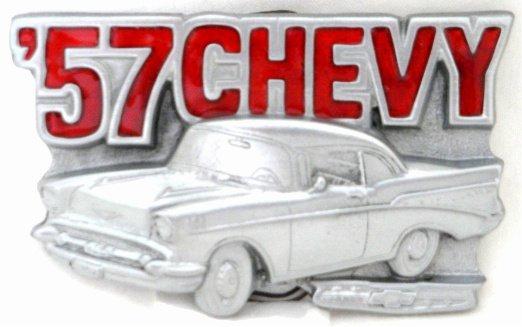 '57 CHEVROLET CHEVY CLASSIC CAR BELT BUCKLE