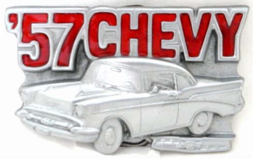 '57 CHEVY BELT BUCKLE BY GREAT AMERICAN