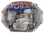 TRUCKING PEWTER BELT BUCKLE...MADE IN USA