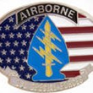 U.S. 1ST AIRBORNE  SPECIAL FORCES MILITARY BELT BUCKLE