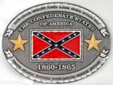 CONFEDERATE STATES OF AMERICA 1860-1865 BELT BUCKLE