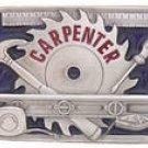 Carpenter's Men's Pewter Occupation Belt Buckle