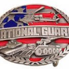 NATIONAL GUARD PEWTER MILITARY BELT BUCKLE BY SISKIYOU