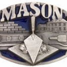MASON BUILDER CONSTRUCTION PEWTER BELT BUCKLE-SISKIYOU