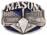 MASON BUILDER CONSTRUCTION PEWTER BELT BUCKLE-SISKIYOU