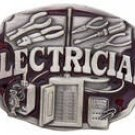 ELECTRICIAN MEN'S OCCUPATION PEWTER BELT BUCKLE