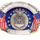 U.S. AIR FORCE RETIRED PEWTER BELT BUCKLE BY SISKIYOU