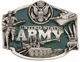U.S. ARMY BELT BUCKLE BY SISKIYOU...FINE SOLID PEWTER