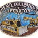 HEAVY EQUIPMENT OPERATOR OCCUPATION TRADES BELT BUCKLE