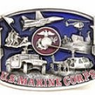 U.S. MARINE CORPS MILITARY BELT BUCKLE...MADE IN USA