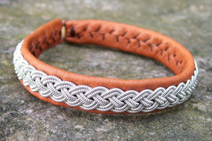 Swedish Lapland Bracelet, Tan, Medium Womens