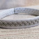 White Swedish Pewter Wire Bracelet