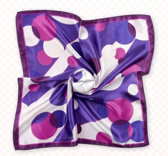 (2S11-SS001-PUL&BLU) Scarf/ Small Square Scarf/ Lady small scarf - Purple & Blue