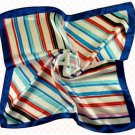 (2S11-SS001-BLU & WHT)Small Square Scarf/ Lady small scarf - Blue & White