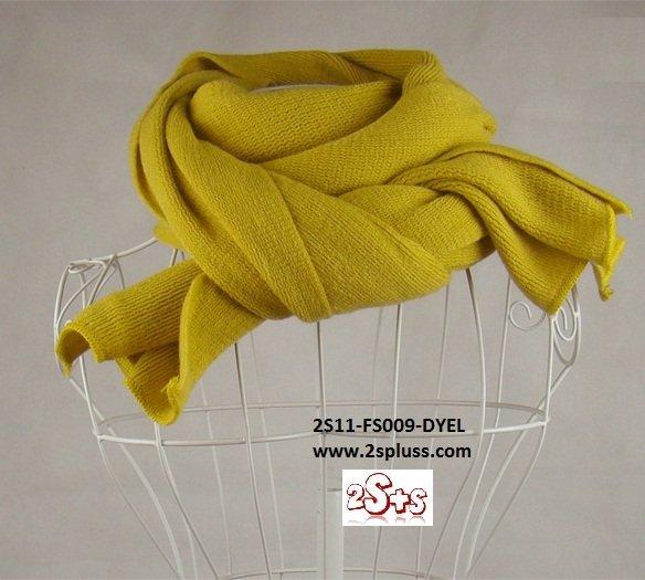 (2S11-FS009-DYEL) Unisex Super Long fashion scarf 200cm*60cm in Dark Yellow colour