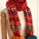 (2S13-FS009-RED) Lady Fashion scarf in Red Color